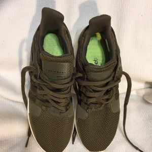 ADIDAS Olive green Equipment Tennis Shoes 9 1/2